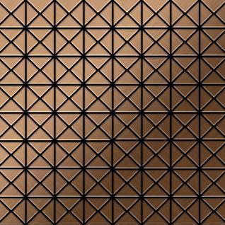 Mosaik Fliese massiv Metall Titan gebürstet in kupfer 1, 6mm stark ALLOY Deco-Ti-AB 1 m2