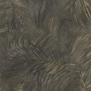 Natur Vliestapete FERUS 205-204 WILD Palmen Dschungel anthrazit-grau schwarz beige 5, 33 qm