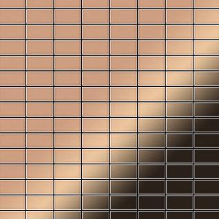 Mosaik Fliese massiv Metall Kupfer gewalzt in kupfer 1, 6mm stark ALLOY Bauhaus-CM 1, 05 m2