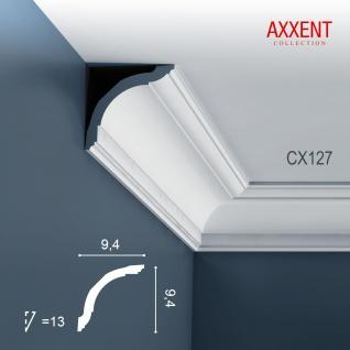Zierleiste Profilleiste Orac Decor CX127 AXXENT Stuckleiste Stuck Profil Eckleiste Wand Leiste Decken Leiste 2 Meter