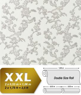 Blumen Vliestapete EDEM 919-30 Blumentapete XXL Hochwertige 3D Präge-Struktur Floral natur-weiß silber grau 10, 65 qm
