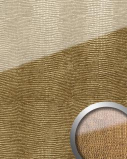 Wandpaneel Glas-Optik WallFace 16973 LEGUAN Luxus Dekor Wandverkleidung selbstklebend gold braun   2, 60 qm