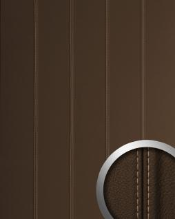 Wandpaneel Leder Design Echtnaht WallFace 13503 LEATHER ZN beige Luxus Wandplatte selbstklebend braun | 2, 60 qm