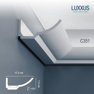 Dekor Profil Orac Decor C351 LUXXUS Eckleiste Zierleiste für indirekte Beleuchtung Wand Decken Stuckprofil 2 Meter