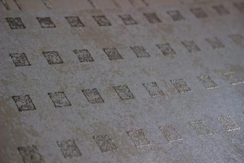 Grafik Tapete Atlas ICO-1705-3 Vliestapete glatt mit abstraktem Muster schimmernd creme grau-beige gold 5, 33 m2 - Vorschau 2