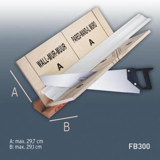 Gehrungslade und Säge Orac Decor FB300 1x Set Zubehör Gehrungslade Set max Verarbeitungsgröße: 29, 7 cm x 29, 1 cm