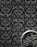 Wandpaneel Vintage Barock WallFace 14800 IMPERIAL Damask selbstklebende Tapete Deko Wandbelag schwarz grau   2, 60 qm