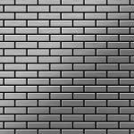 Mosaik Fliese massiv Metall Edelstahl gebürstet in grau 1, 6mm stark ALLOY PK-S-S-B 0, 88 m2