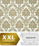 Barock Tapete XXL Vliestapete 3D EDEM 655-95 Damast Muster Textil-Optik Barocktapete grün gold creme hellbraun 10, 65 m2