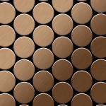 Mosaik Fliese massiv Metall Titan gebürstet in kupfer 1, 6mm stark ALLOY Medallion-Ti-AB 0, 73 m2