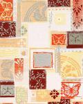 Grafik Tapete EDEM 071-21 Scrapbooking Style Schmetterlinge Funky Collage Struktur Weiß orange braun grau