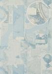 Grafik Tapete Atlas SIG-685-2 Vliestapete glatt im maritimen Design schimmernd grau perl-weiß licht-blau beige 7, 035 m2