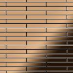 Mosaik Fliese massiv Metall Titan hochglänzend in kupfer 1, 6mm stark ALLOY Avenue-Ti-AM 0, 74 m2