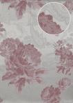 Blumen Tapete Atlas TEM-9015-4 Vliestapete strukturiert mit Paisley Muster und Metallic Effekt silber pastell-violett weiß weiß-aluminium 7, 035 m2