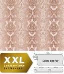 3D XXL Barock Tapete Vliestapete EDEM 691-93 Elegance Vintage Damask Relief-Tapete creme beige schoko-braun 10, 65 qm