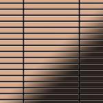Mosaik Fliese massiv Metall Kupfer gewalzt in kupfer 1, 6mm stark ALLOY Linear-CM 0, 94 m2