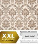 Barock Tapete XXL Vliestapete 3D EDEM 655-93 Damast Muster Textil-Optik Barocktapete creme beige braun 10, 65 m2