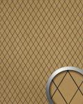 Wandverkleidung Rombo Mosaik Dekor selbstklebend WallFace 18586 LINEA Wandpaneel Design gold beige | 2, 60 qm