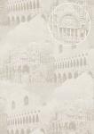 Grafik Tapete Atlas SIG-285-1 Vliestapete strukturiert mit architektonischen Motiven und metallischen Akzenten grau licht-grau creme-weiß silber 7, 035 m2