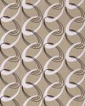 Retro Tapete EDEM 1017-13 Retrotapete 70er Jahre Retro Rings Tapete Ketten Muster hochwaschbare Oberfläche hell beige weiß braun