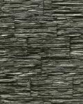 Stein Tapete EDEM 1003-34 Tapete Naturstein Bruch-Stein Schiefer Mauer Optik geprägte Struktur hochwaschbar schwarz grau
