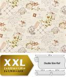 Landhaus Tapete Vliestapete XXL EDEM 904-18 Romantische Mustertapete Blumen Vögel grün braun 10, 65 m2
