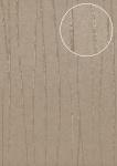 Edle Streifen Tapete Atlas COL-865-0 Vliestapete glatt Design schimmernd grau stein-grau silber 5, 33 m2