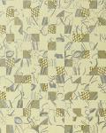 Stein Tapete EDEM 745-28 Tapete Mystic Arts Collage abstraktes Mosaik-muster hochwertige Prägequalität Elfenbein silber