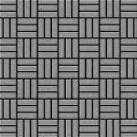 Mosaik Fliese massiv Metall Edelstahl marine gebürstet in grau 1, 6mm stark ALLOY Basketweave-S-S-MB 0, 82 m2