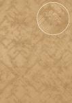 Grafik Tapete Atlas SIG-185-1 Vliestapete strukturiert mit abstraktem Muster schimmernd beige braun-beige grau-beige silber-grau 7, 035 m2
