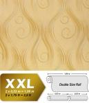 Grafik Tapete Vliestapete EDEM 954-23 XXL geschwungene Linien Matt-Glanz-Optik Ton-in-Ton Goldgelb beige 10, 65 qm