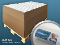 Renoviervlies HomeVlies 130 g Malervlies Glattvlies glatte Vliestapete zum Überstreichen weiß | 1 Pal 2625 qm 105 Rollen
