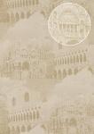 Grafik Tapete Atlas SIG-285-3 Vliestapete strukturiert mit architektonischen Motiven und metallischen Akzenten elfenbein creme-weiß grau-beige gold 7, 035 m2