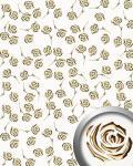 Dekorpaneel Rosen Dekor Blumen Design WallFace 16444 3D ROSE Paneel selbstklebend gold perlweiß   2, 60 qm