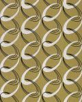 Retro Tapete EDEM 1017-15 Retrotapete Fashion Designer 70er Retro Tapete Ketten Muster hochwaschbare Oberfläche olivgrün weiß schwarz