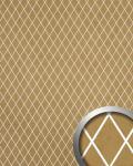 Wandpaneel selbstklebend WallFace 18606 TL LINEA Wandverkleidung lichtdurchlässig Rombo Mosaik Dekor gold beige 2, 60 qm