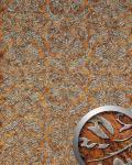 Wandpaneel Vintage Barock WallFace 14801 IMPERIAL Damask selbstklebende Tapete Dekor Wand-belag kupfer braun   2, 60 qm