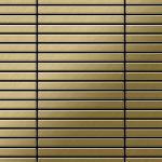 Mosaik Fliese massiv Metall Titan gebürstet in gold 1, 6mm stark ALLOY Linear-Ti-GB 0, 94 m2