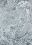 Hochwertige Stein-Kacheln Tapete Atlas 24C-8505-4 Vliestapete glatt mit abstraktem Muster und metallischen Akzenten silber platin-grau anthrazit 7, 035 m2