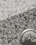 Wandpaneel Glas-Optik Französiche Spitze Muster WallFace 17949 LACE Wandverkleidung platin schwarz | 2, 60 qm