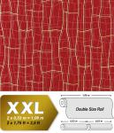 Grafik Tapete Vliestapete EDEM 972-35 XXL Objekttapete abstraktes 3D Netz geschwungene Linien Rot goldgelb 10, 65 qm