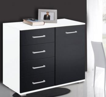 schwarz weiss schrank online bestellen bei yatego. Black Bedroom Furniture Sets. Home Design Ideas