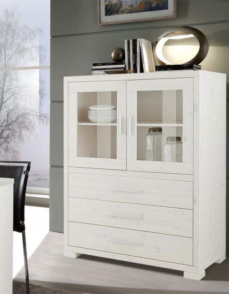 vitrine kiefer weiss massiv g nstig online kaufen yatego. Black Bedroom Furniture Sets. Home Design Ideas
