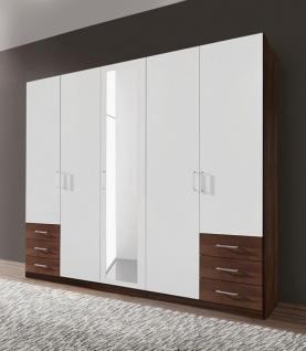 kleiderschrank nussbaum wei g nstig online kaufen yatego. Black Bedroom Furniture Sets. Home Design Ideas