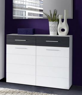 schuhschrank schwarz hochglanz bestellen bei yatego. Black Bedroom Furniture Sets. Home Design Ideas