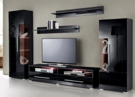 wandregal schwarz glas online bestellen bei yatego. Black Bedroom Furniture Sets. Home Design Ideas