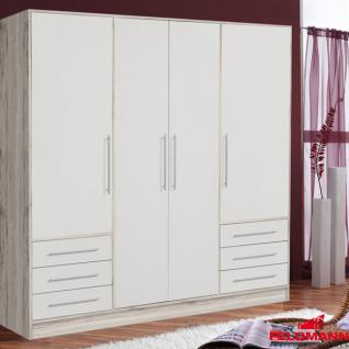 kleiderschrank schrank korpus sandeiche wei 4 t rig 207cm neu kaufen bei feldmann wohnen gmbh. Black Bedroom Furniture Sets. Home Design Ideas