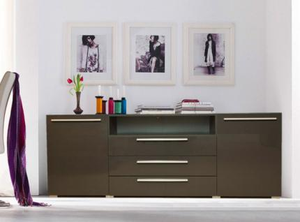 sideboard kommode anrichte anthrazit hochglanz neu. Black Bedroom Furniture Sets. Home Design Ideas