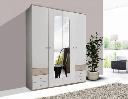 kleiderschrank wei 4 t rig g nstig online kaufen yatego. Black Bedroom Furniture Sets. Home Design Ideas