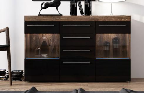 sideboard schwarz matt online bestellen bei yatego. Black Bedroom Furniture Sets. Home Design Ideas